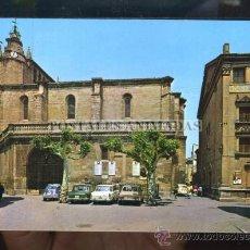 Postales: (00950) MIRANDA DE EBRO - IGLESIA DE SANTA MARIA Y TEATRO APOLO 1972 - ED SICILIA - SEAT 600 1500. Lote 27504473