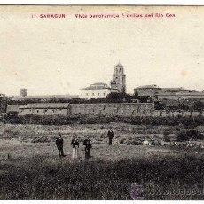 Postales: MAGNIFICA POSTAL - SAHAGUN (LEON) - VISTA PANORAMICA A ORILLAS DEL RIO CEA. Lote 22961198