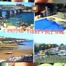 Postales: CAMPING VIRGEN DEL MAR-SAN ROMÁN DE LA LLANILLA-(CANTABRIA).Nº2665.ESCUDO DE ORO.SIN CIRCULAR¡NUEVA!. Lote 23084948