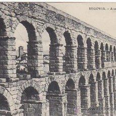 Postales: SEGOVIA: ACUEDUCTO 1908 EN BONITA POSTAL E.J.G. CIRCULADA SEGOVIA-MADRID FRANQUEO DENTADO DESPLAZADO. Lote 23425765