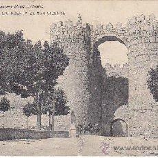 Postales: AVILA: PUERTA DE SAN VICENTE ¿1907? EN POSTAL NUM. 728 HAUSER Y MENET CIRCULADA DE AVILA A MADRID.. Lote 23445171