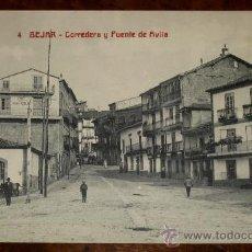 Postales: ANTIGUA POSTAL DE BEJAR (SALAMANCA) CORREDERA Y PUENTE DE AVILA - CASTAÑEIRA - SIN CIRCULAR. Lote 23488767