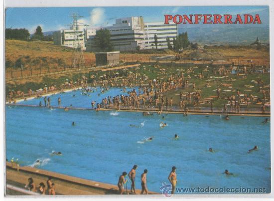Tarjeta postal de ponferrada piscinas municipal comprar for Piscinas ponferrada