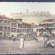 Postales: PEÑAFIEL (VALLADOLID).- PLAZA DE TOROS Y CASTILLO. Lote 24814455