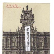 Postales: 100 LEÓN - PORTADA DE SAN MARCOS FOTOTIPIA THOMAS 2786. Lote 27209256