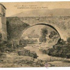 Postales: PONFERRADA, LEÓN. PUENTE DE LA PUEBLA. COLECCIÓN ROMERO. HAUSER Y MENET. Lote 25882802