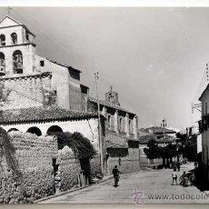 Postales: SORIA. SAN ESTEBAN DE GORMAZ. CALLE REAL E IGLESIA DE SAN ESTEBAN.. Lote 27572523