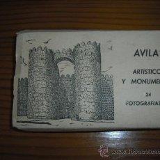 Postales: AVILA ARTISTICO Y MONUMENTAL (24 FOTOS DE 6X9) EN BLANCO Y NEGRO VER FOTOS. Lote 26493053