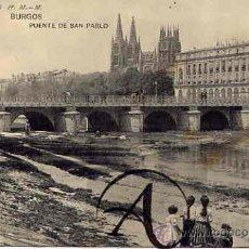 Postales: BURGOS.PUENTE DE SAN PABLO. H.M.-M.. Lote 26650525