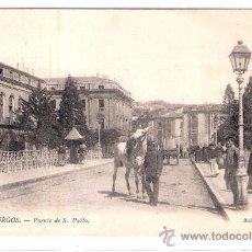 Postales: BURGOS- 117 - PUENTE DE SAN PABLO - SERIE POSTAL - (6065). Lote 26982242