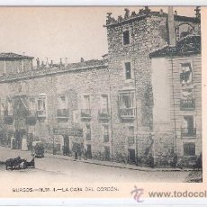Postales: BURGOS- NUM. 4 - LA CASA DEL CORDON - (6066 ). Lote 26982352