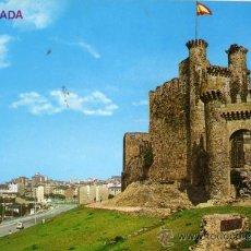 Postales: PONFERRADA Nº 38 CASTILLO Y VISTA PARCIAL ED. ARRIBAS ESCRITA CIRCULADA SELLO. Lote 27675313