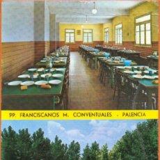 Postales: COMEDOR Y PISCINA DE PP FRANCISCANOS M. CONVENTUALES -ED. SICILIA - DIST. ALMACENES COLON. Lote 27749663