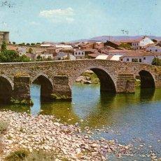 Postales: BARCO DE ÁVILA PUENTE ROMANO Y CASTILLO F.I.T.E.R. ESCRITA CIRCULADA SELLO. Lote 28028859