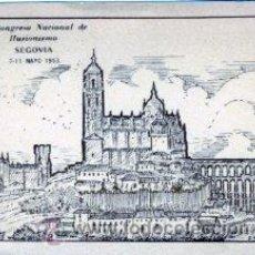 Postales: SEGOVIA.- 2º CONGRESO NACIONAL DE ILUSIONISMO, 7-11 MAYO 1953.- RARA.- EDICIÓN CORTA Y NUMERADA.. Lote 28346155