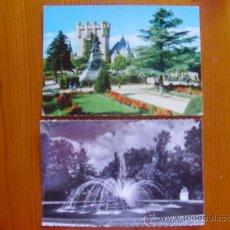 Postales: LOTE DE 2 POSTALES DE SEGOVIA. LA GRANJA DE SAN ILDEFONSO. AÑOS 50-60. ¡NUEVAS!. Lote 28520166
