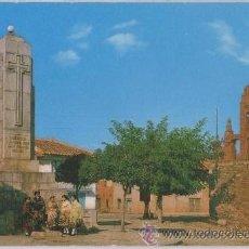 Postales: TARJETA POSTAL DE CASTROCONTRIGO LEON PLAZA DEL GENERALISIMO CRUZ DE LOS CAIDOS ERMITA TRAJE TIPICO. Lote 27455033
