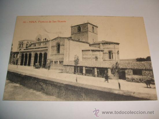 AVILA PORTICOS DE SAN VICENTE EDICION THOMAS Nº 26 (Postales - España - Castilla y León Antigua (hasta 1939))