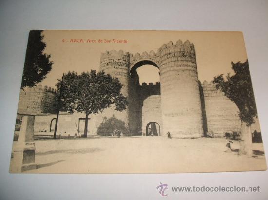 AVILA ARCO DE SAN VICENTE EDICION THOMAS Nº 4 (Postales - España - Castilla y León Antigua (hasta 1939))