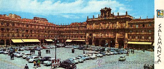 POSTAL PANORÁMICA DE SALAMANCA, PLAYA MAYOR, 24,5X10,5 CM, S/C (Postales - España - Castilla y León Moderna (desde 1940))