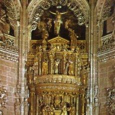 Postales: BURGOS CATEDRAL Nº 68 CAPILLA DE LOS CONDESTABLES ALTAR MAYOR SUBIRATS SIN CRCULAR . Lote 29484126