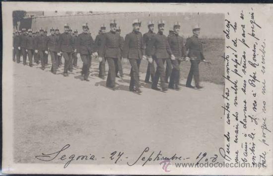 SEGOVIA.- J. DUQUE FOTÓGRAFO DE LA ACADEMIA DE ARTILLERIA .-AÑO 1908 (Postales - España - Castilla y León Antigua (hasta 1939))