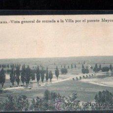 Postales: TARJETA POSTAL DE BURGOS - LERMA. VISTA GENERAL DE ENTRADA A LA VILLA POR EL PUENTE MAYOR.. Lote 30156502
