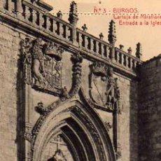 Postales: BURGOS Nº 3 CARTUJA DE MIRAFLORES ENTRADA A LA IGLESIA FOTOTIPIA THOMAS NUEVA SIN CIRCULAR . Lote 30581177