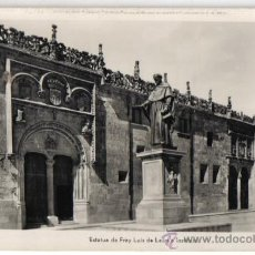 Postales: SALAMANCA, ESTATUA DE FRAY LUIS DE LEON E INSTITUTO. Lote 30617652