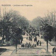 Postales: PRECIOSA POSTAL DE LOS JARDINES DEL ESPOLON DE BURGOS - CASTILLA LEON. Lote 30779729