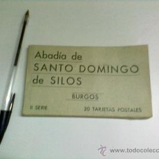 Postales: BLOC DE POSTALES DE ABADIA DE SANTO DOMINGO DE SILOS- BURGOS -( LOTE 20 POSTALES ) SERIE II. Lote 30811705
