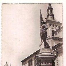 Postales: ANTIGUA POSTAL 12 SEGOVIA MONUMENTO A JUAN BRAVO IGLESIA DE SAN MARTIN DOMINGUEZ. Lote 31032198