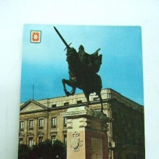Postales: POSTAL BURGOS - MONUMENTO AL CID CAMPEADOR - 1962 - ESCRITA NO CIRCULADA. Lote 31161454