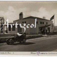 Postales: BONITA POSTAL - ARANDA DE DUERO (BURGOS) - ALBERGUE DE ARANDA - COCHE DE EPOCA - ED. ARRIBAS. Lote 31186040