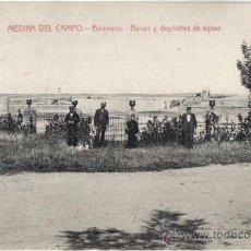 Postales: POSTAL DE MEDINA DEL CAMPO (VALLADOLID) BALNEARIO, BOLSAS Y DEPOSITOS DE AGUAS. Lote 31284429