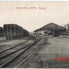 Postales: POSTAL DE MEDINA DEL CAMPO (VALLADOLID) LA ESTACION. . Lote 31284489