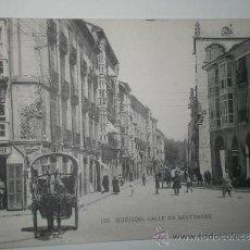 Postales: BURGOS.- CALLE DE SANTANDER. TARJETA POSTAL SIN CIRCULAR. FOTOTIPIA DE HAUSER Y MENET.. Lote 30954798
