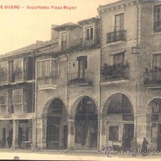 Postales: ARANDA DE DUERO (BURGOS).- SOPORTALES PLAZA MAYOR. Lote 31523770