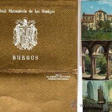 Postales: LIBRILLO CON 10 POSTALES DE BURGOS, REAL MONASTERIO DE LAS HUELGAS. Lote 31571573