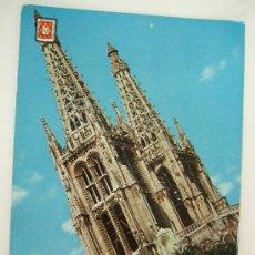 Postales: POSTAL BURGOS - TORRES DE LA CATEDRAL FANTASIA - 1962 - CIRCULADA. Lote 31938784