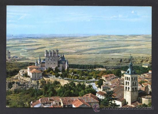 SEGOVIA. *VISTA AEREA* ED. M. ROYUELA - ALARDE Nº 7. ESCRITA. (Postales - España - Castilla y León Moderna (desde 1940))
