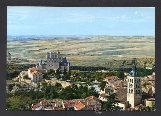 SEGOVIA. *VISTA AEREA* ED. M. ROYUELA - ALARDE Nº 7. CIRCULADA 1963. (Postales - España - Castilla y León Moderna (desde 1940))