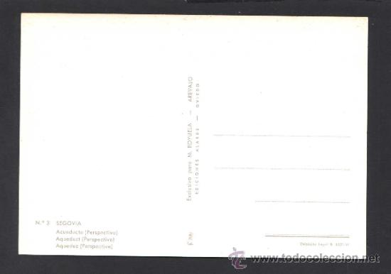 Postales: Segovia. *Acueducto...* Ed. M. Royuela - Alarde nº 3. Nueva. - Foto 2 - 32060240