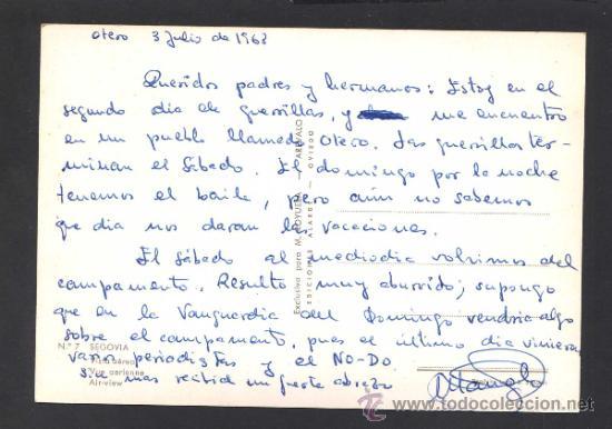 Postales: Segovia. *Vista aerea* Ed. M. Royuela - Alarde nº 7. Escrita. - Foto 2 - 32060395