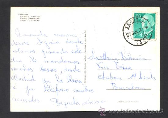 Postales: Segovia. *Acueducto...* Ed. M. Royuela - Alarde nº 5. Circulada 1970. - Foto 2 - 32060430