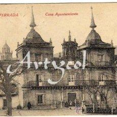 Postales: PRECIOSA POSTAL - PONFERRADA (LEON) - CASA AYUNTAMIENTO - AMBIENTADA . Lote 32192445