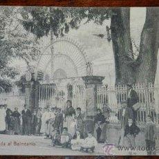 Cartoline: ANTIGUA POSTAL DE BÉJAR(SALAMANCA) - ENTRADA AL BALNEARIO, NO CONSTA MARCA EDITORIAL, DETRAS HAY UN. Lote 32244577