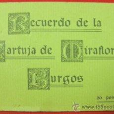 Postales: RECUERDO DE LA CARTUJA DE MIRAFLORES BURGOS 20 POSTALES ED. FOTOTIPIA THOMAS BARCELONA Y F. HAUSER. Lote 32393576