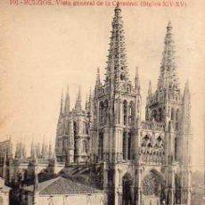 Postales: BURGOS Nº 101 VISTA GENERAL DE LA CATEDRAL EDICION ALMIRALL SIN CIRCULAR . Lote 32792570
