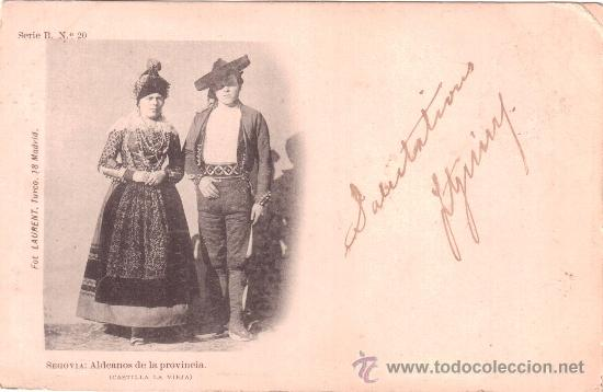 SEGOVIA: ALDEANOS DE LA PROVINCIA. (CASTILLA LA VIEJA). FOT. LAURENT. SERIE B. N.º 20. (Postales - España - Castilla y León Antigua (hasta 1939))